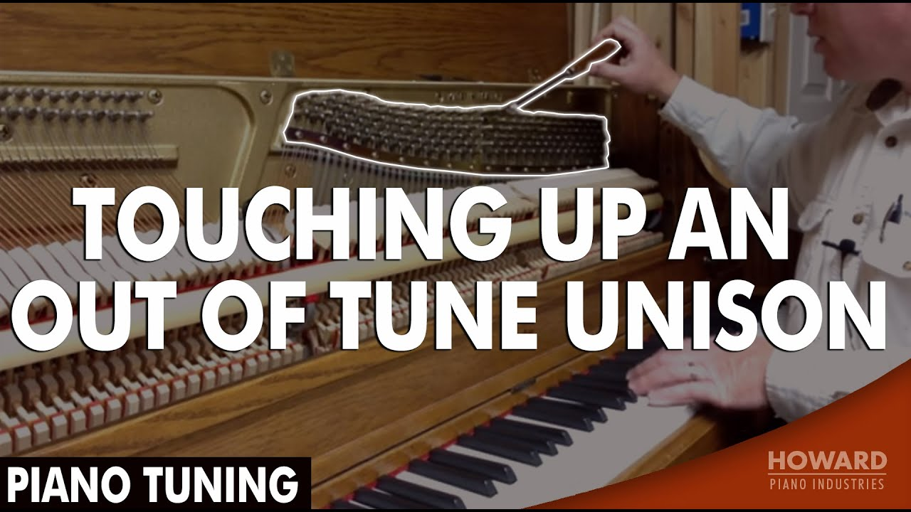 Piano Tuning - Touching Up An Out of Tune Unison - YouTube