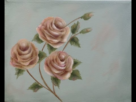 Learn to Paint Antique Stroke Roses Complete Version