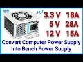 Gambar cover How To Convert Computer Power Supply To Lab Bench Power Supply | DIY ATX To Bench PSU