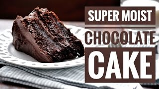 Super moist chocolate cake - How to make a cake without electronic blender at home