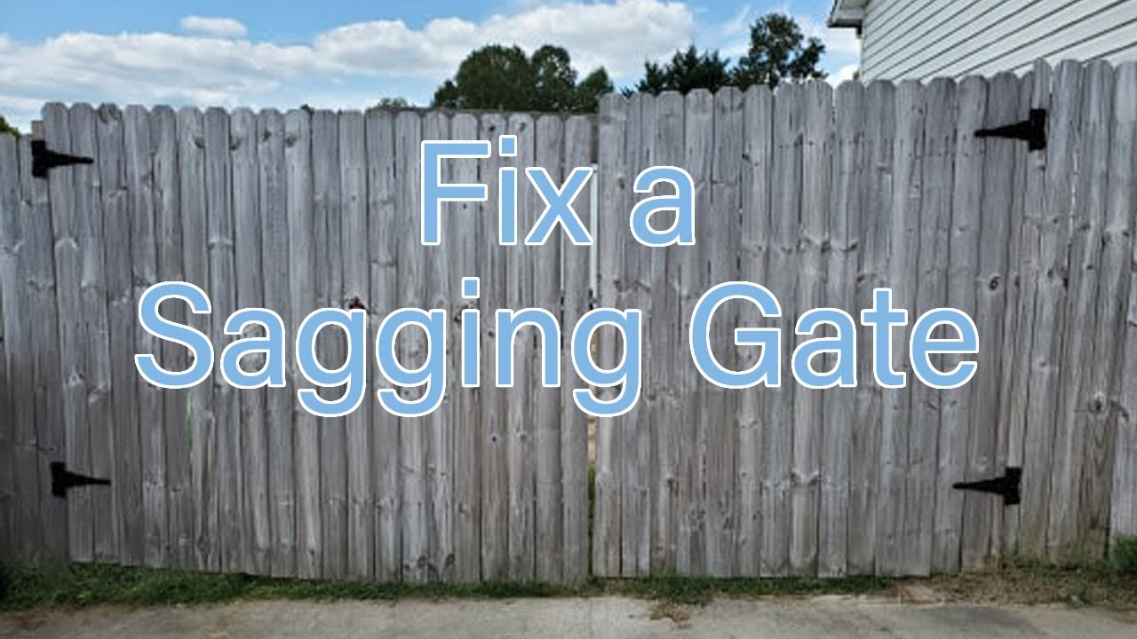 How to Fix a Large Sagging Gate