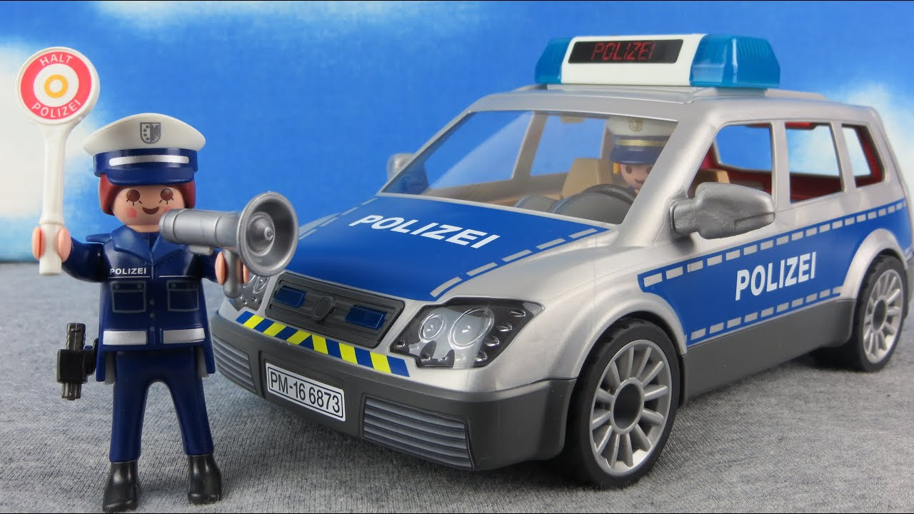 playmobil polizei deutsch polizeiauto 6873 auspacken. Black Bedroom Furniture Sets. Home Design Ideas