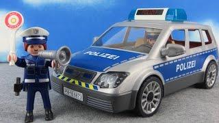 PLAYMOBIL Polizei Film deutsch: Polizeiauto 6873 Polizei auspacken Spielzeug ausgepackt & angespielt