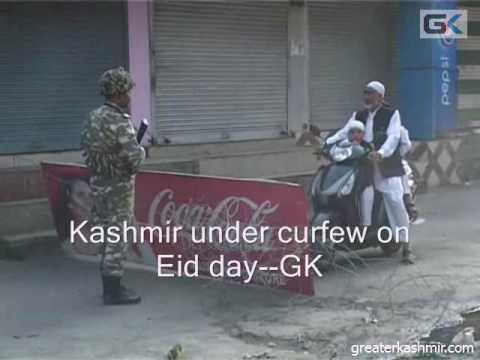 Kashmir under curfew on Eid day