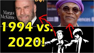 Pulp Fiction THEN AND NOW 2020 vs. 1994 full cast