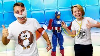 Смешные видео - Супергерои Полицейской Академии у врача! - Онлайн игра больница.