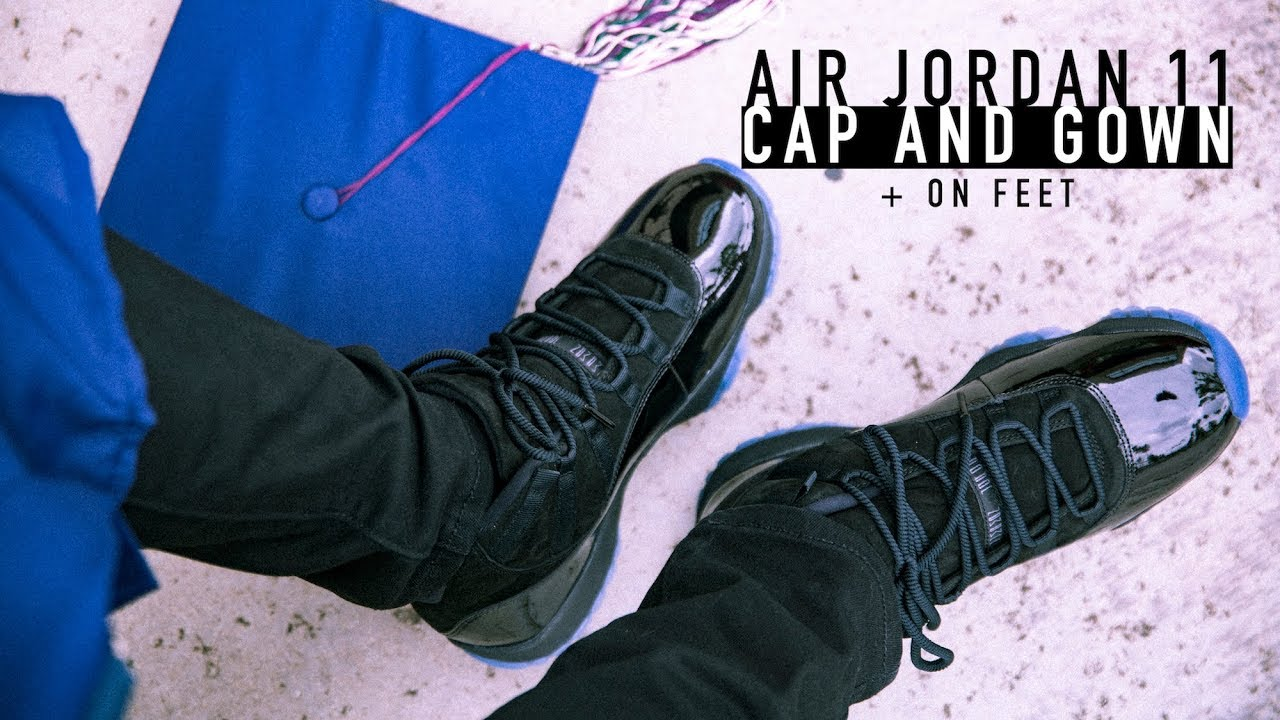 FIRST LOOK: Air Jordan 11 \'Cap and Gown\' + On Feet | SHIEKH - YouTube