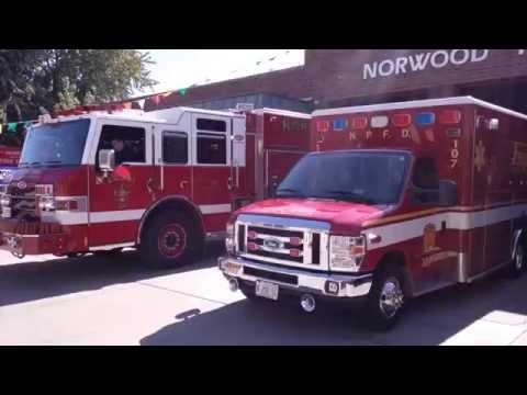 Norwood Park Engine 101 & Ambulance 107 Responding