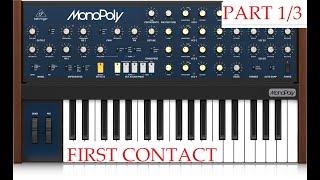 Behringer MonoPoly part 1/3 - 1st contact
