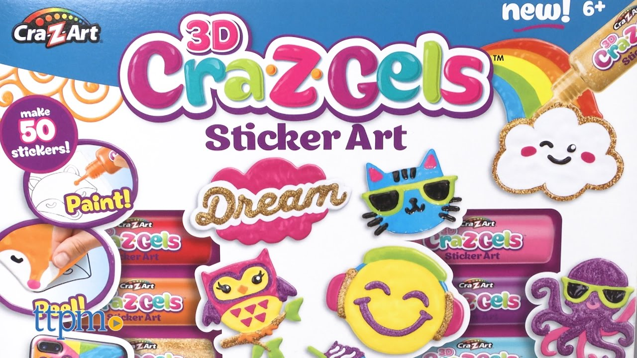 3d Cra Z Gels Sticker Art Deluxe Set From Cra Z Art Youtube