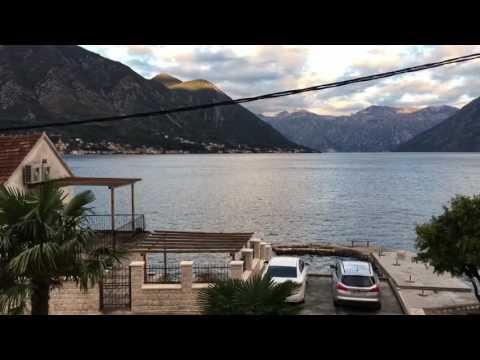 Dobrota, sunrise in Kotor Bay