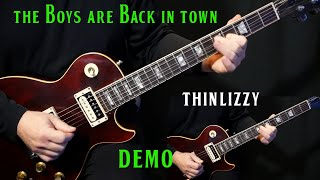 "how to play ""The Boys Are Back In Town"" on guitar by Thin Lizzy 