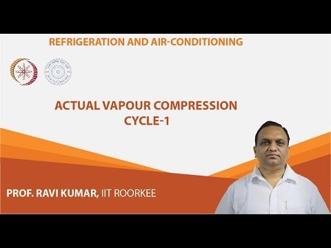 Lecture 10 : Actual Vapour Compression Cycle-1