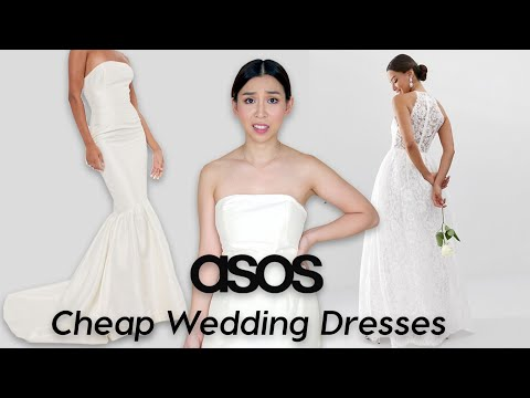 Trying On Cheap Wedding Dresses From ASOS - It Was Not What I Expected  😳