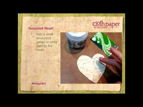 Conversation Heart Collage Make-Along, with Cloth Paper Scissors Magazine