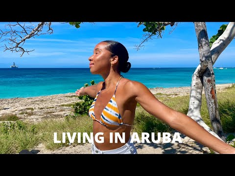 LIVING IN ARUBA // Food Haul + Tres Trapi Beach