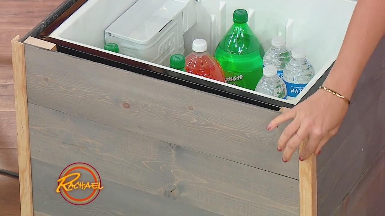 Upcycle Your Old Mini Fridge Into A Stylish Patio Cooler