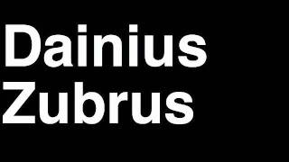 How to Pronounce Dainius Zubrus New Jersey Devils NHL Hockey Player Runforthecube