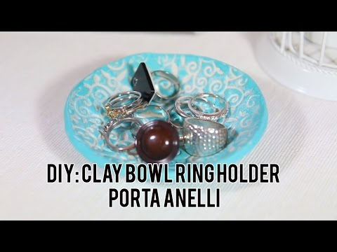 Diy clay ring bowl porta anelli fai da te youtube for Porta anelli fai da te