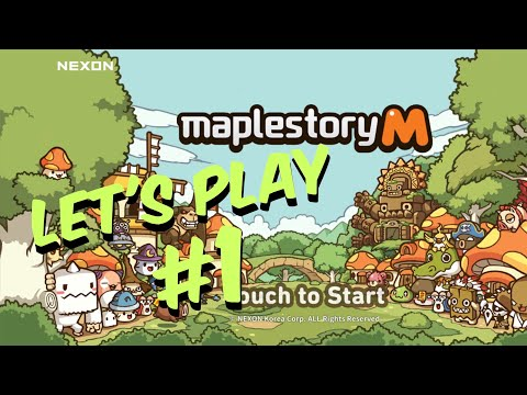 Let's Play Maplestory M On IOS / IPhone XS (Maplestory M Gameplay) - Part 1