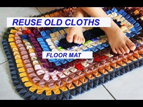 reuse old साड़ी - सूट - पुराने कपड़ों से बनाए Floor Mat, carpet , area rug , door mat