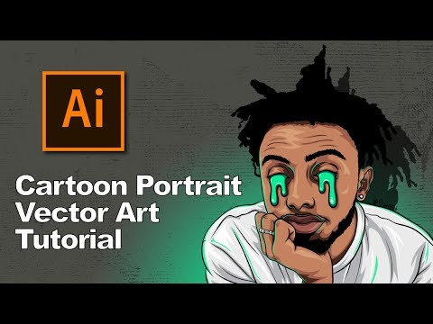 Cartoon Portrait - Vector Art Tutorial // Amine thumbnail