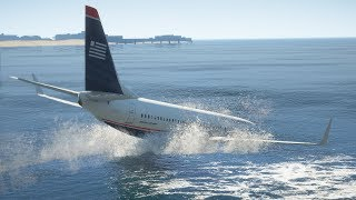 737 Crashes Into The Ocean During Emergency Landin