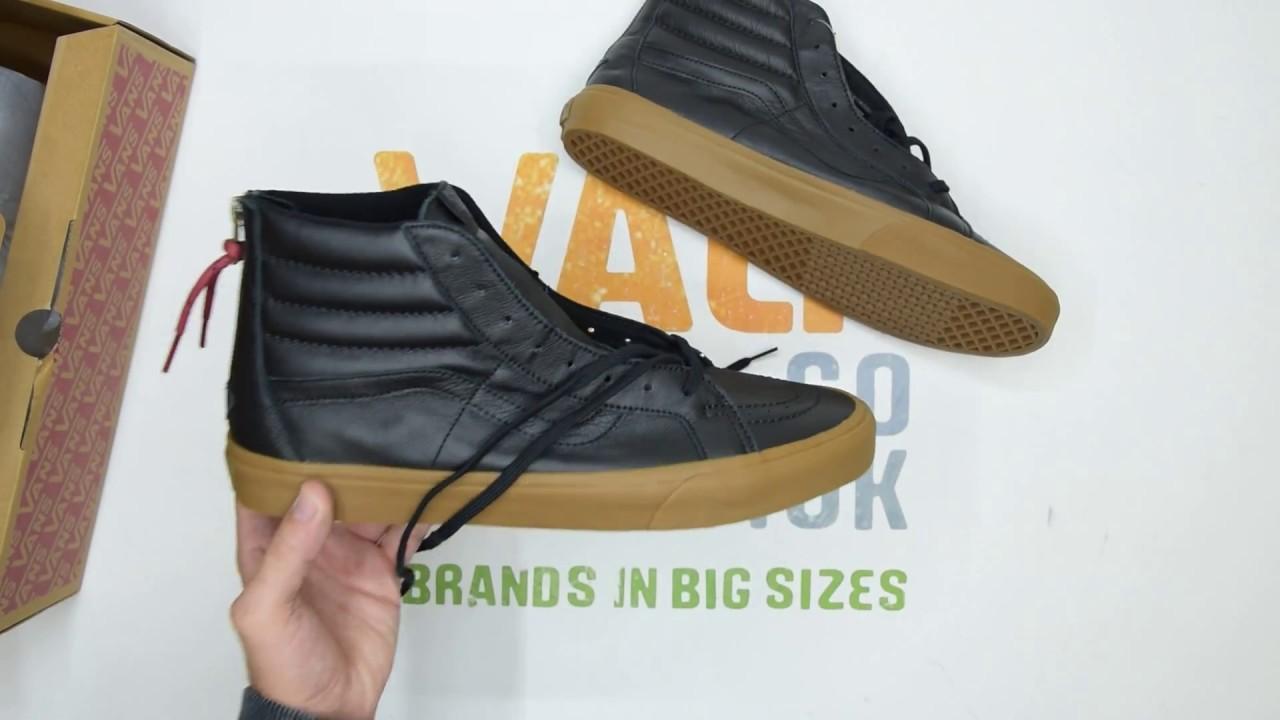 05050ab3d2 Vans SK8-Hi Reissue Zip - Black Gum - Unboxing