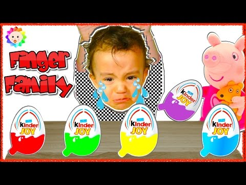 Thumbnail: Bad Baby Crying Lear Colors Colorful Kinder Joy Surprise eggs Peppa Pig Finger Family Learn Song #1