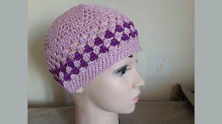 Вязание летней шапочки,часть2