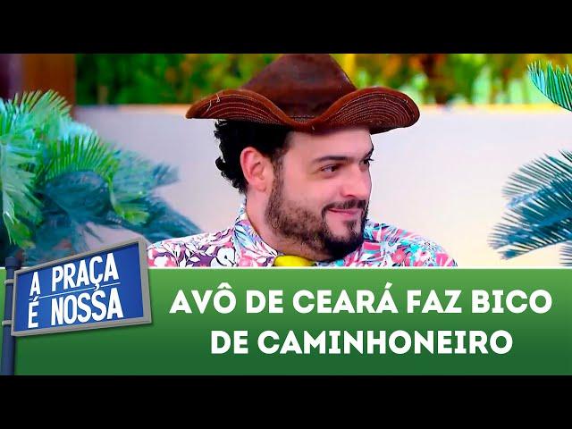 Avô de Ceará faz bico de caminhoneiro | A Praça É Nossa (29/11/18)