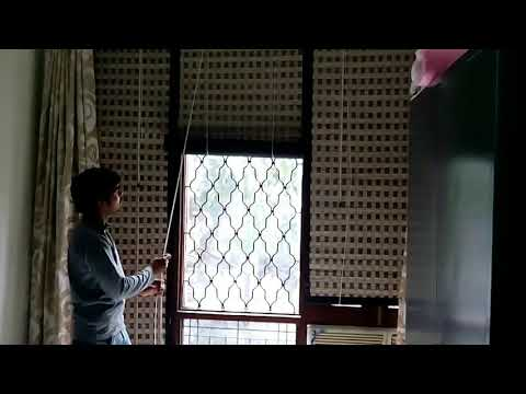 Bamboo Window curtains
