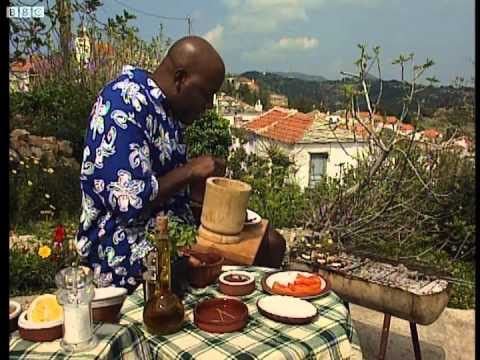 Ainsley's Greek Aubergines - Ainsley's Barbecue Bible - BBC Food