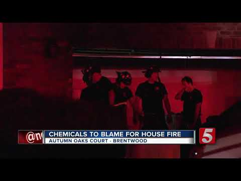 Chmeicals cause house fire in Brentwood