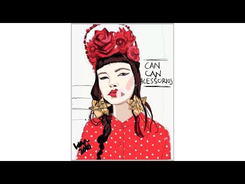 timelapse:fashion-illustration:-portrait-on-ipad-pro-using-adobe-draw-app