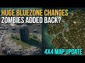 HUGE BLUEZONE CHANGE - ZOMBIES ADDED? | 4x4 Map Update - PUBG News
