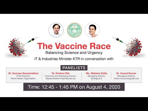 Live: Minister KTR - The Vaccine Race: Balancing Science and Urgency