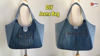 DIY JEANS BAG | RECYCLE OLD JE…