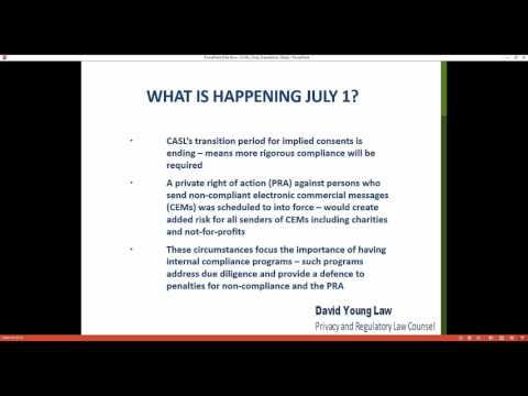 Canadian Anti-Spam Legislation (CASL): What Your Charity Needs to do Before July 1st