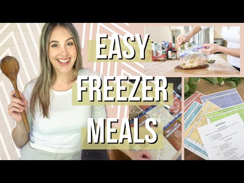 10 EASY FREEZER MEAL IDEAS | Budget & family friendly meal prep