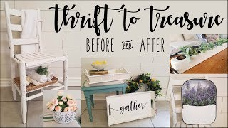 Thrift to Treasure • Before and After • chair, bench, sugar mold, trays