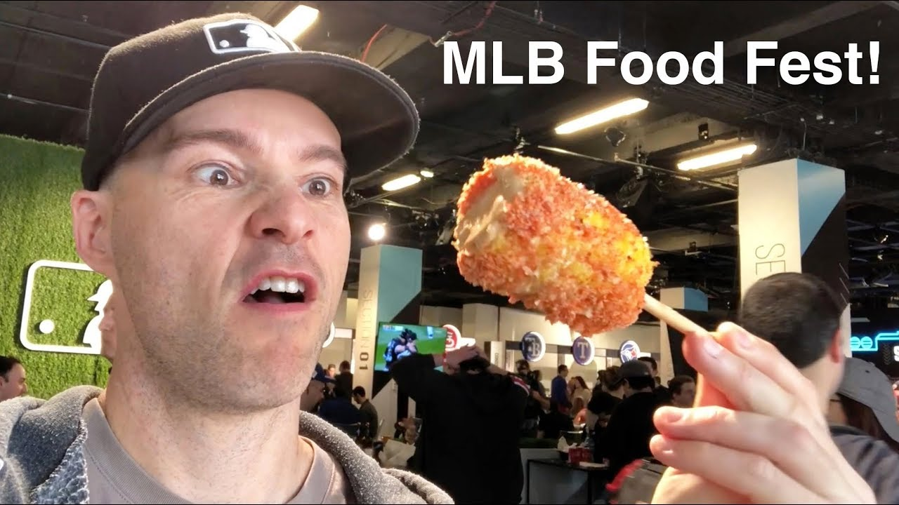Eating A Ton At The Mlb Food Fest Youtube