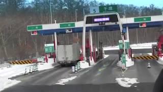 【大型バス所有記】大型バスで初めて高速道路を走行して新千歳空港へ行ってみた!ETC狭い。。。 thumbnail