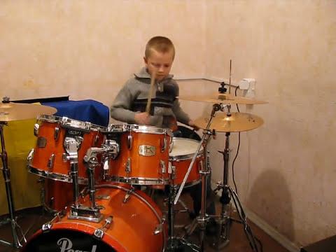 Deep Purple - Smoke On The Water - Drum Cover - Drummer Daniel Varfolomeyev 8 year