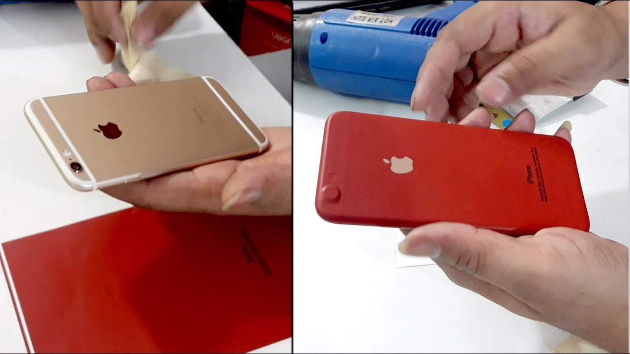 Iphone 6s Converted In Red Edition With Apple Red Skin