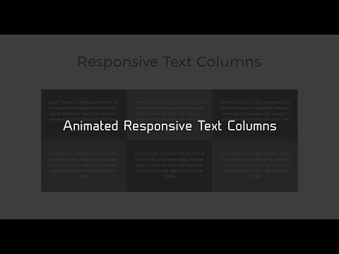 Responsive Equal Height Columns   HTML & CSS