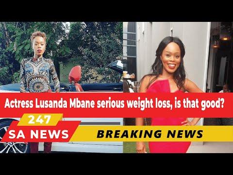 SHOCK | actress Lusanda Mbane (Boniswa's) serious weight loss, is that good?