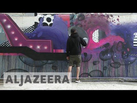 Artists create 'Outside art' in Hong Kong