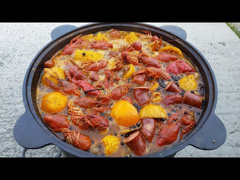 Раки по-Луизиански в Казане на Костре. Louisiana Crawfish Boil. Выпуск №543