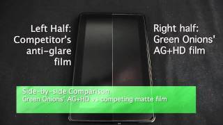 AG+ Anti-Glare Screen Protector Demonstration - Green Onions Supply